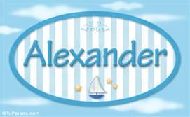 Alexander, nombre de bebé, nombre de niño