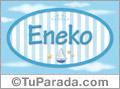 Nombre Nombre Eneko de bebé, para imprimir