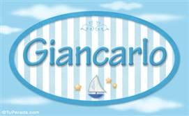 Giancarlo, nombre de bebé, nombre de niño