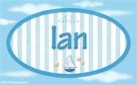 Ian, nombre de bebé, nombre de niño