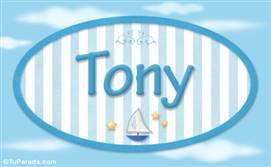 Tony, nombre de bebé, nombre de niño