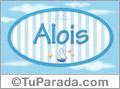 Nombre Nombre Alois de bebé, para imprimir
