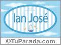 Ian José, nombre de bebé, nombre de niño