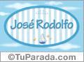 Nombre Nombre José Rodolfo de bebé, para imprimir