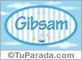 Gibsam, nombre de bebé, nombre de niño