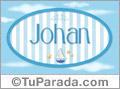 Nombre Nombre Johan de bebé, para imprimir