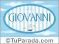 Nombre Nombre Giovanni de bebé, para imprimir