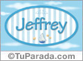 Nombre Nombre Jeffrey de bebé, para imprimir