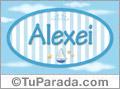 Nombre Nombre Alexei de bebé, para imprimir