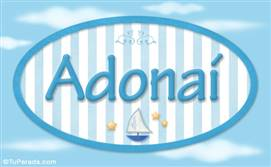 Adonaí, nombre de bebé, nombre de niño
