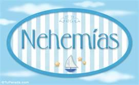Nehemías, nombre de bebé, nombre de niño