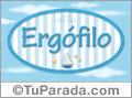 Nombre Nombre Ergófilo de bebé, para imprimir