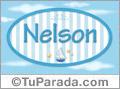 Nombre Nombre Nelson de bebé, para imprimir
