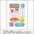Victoria - Para stickers