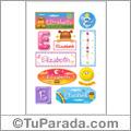 Elizabeth - Para stickers