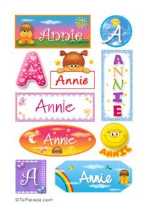 Annie - Para stickers