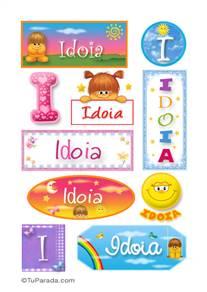 Idoia - Para stickers