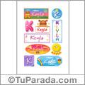 Keyla - Para stickers