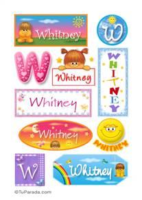 Whitney - Para stickers