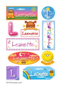 Leanette - Para stickers