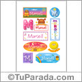 Marsell - Para stickers