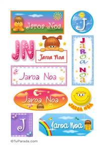 Jaroa Noa - Para stickers