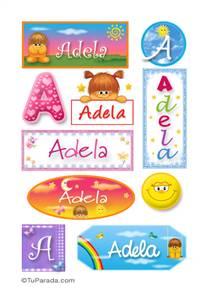 Adela, nombre para stickers