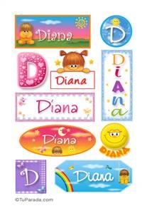 Diana - Para stickers