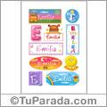 Emilia - Para stickers
