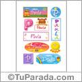 Paula - Para stickers