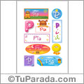Pia - Para stickers