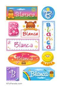 Blanca - Para stickers