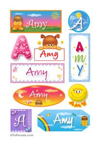 Amy - Para stickers