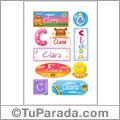 Clara - Para stickers