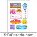 Maria Rosa - Para stickers