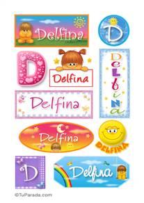 Delfina - Para stickers