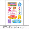 Zulma - Para stickers