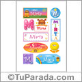 Mirta - Para stickers