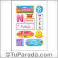 Natalia - Para stickers