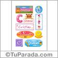 Cristina -Para stickers