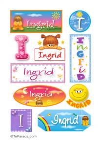 Ingrid - Para stickers
