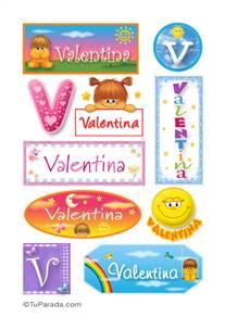 Valentina - Para stickers