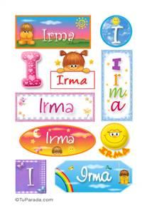 Irma - Para stickers