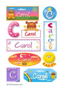 Carol - Para stickers