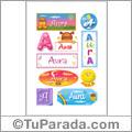 Aura, nombre para stickers