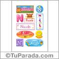 Nicole - Para stickers