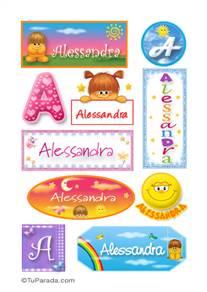 Alessandra - Para stickers