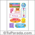 Falinda - Para stickers