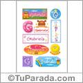 Gabriela - Para stickers