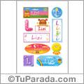 Lizi - Para stickers